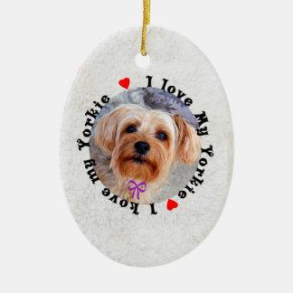 I love my Yorkie Female Yorkshire Terrier Dog Ceramic Ornament