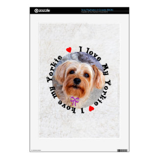 I love my Yorkie Female Yorkshire Terrier Dog Decals For PS3 Console