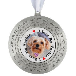 I love my Yorkie Female Yorkshire Terrier Dog Ornament