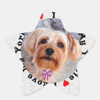 I love my Yorkie Female Yorkshire Terrier Dog Star Sticker
