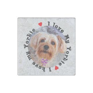 I love my Yorkie Female Yorkshire Terrier Dog Stone Magnet