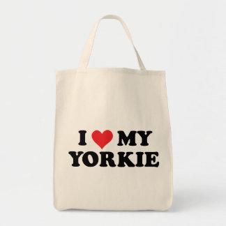 I Love My Yorkie Grocery Tote Bag