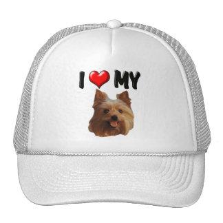 I Love My Yorkie Mesh Hat
