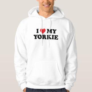 I Love My Yorkie Hoodies