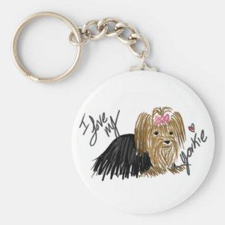 I Love My Yorkie keychain