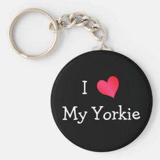 I Love My Yorkie Keychains