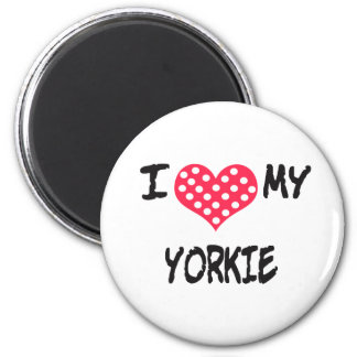 I love my Yorkie Magnet