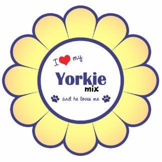 I Love My Yorkie Mix (Male Dog) Statuette