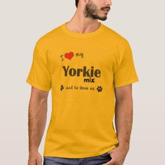 I Love My Yorkie Mix (Male Dog) T-Shirt