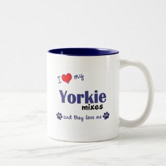 I Love My Yorkie Mixes (Multiple Dogs) Coffee Mug
