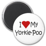 I Love My Yorkie-Poo Dog Breed Lover Gifts 2 Inch Round Magnet