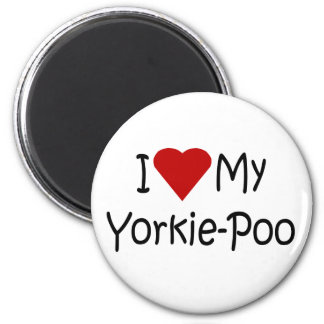 I Love My Yorkie-Poo Dog Breed Lover Gifts Magnet