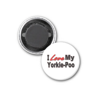 I Love My Yorkie-Poo Dog Gifts and Apparel Magnet