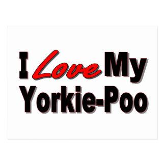 I Love My Yorkie-Poo Dog Gifts and Apparel Postcard
