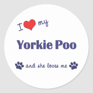 I Love My Yorkie Poo (Female Dog) Sticker