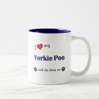 I Love My Yorkie Poo (Female Dog) Two-Tone Coffee Mug