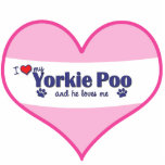 I Love My Yorkie Poo (Male Dog) Cut Out