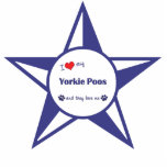 I Love My Yorkie Poos (Multiple Dogs) Cut Out