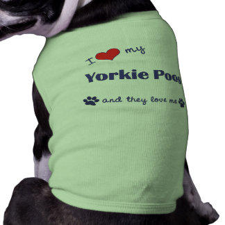 I Love My Yorkie Poos (Multiple Dogs) Dog T-shirt