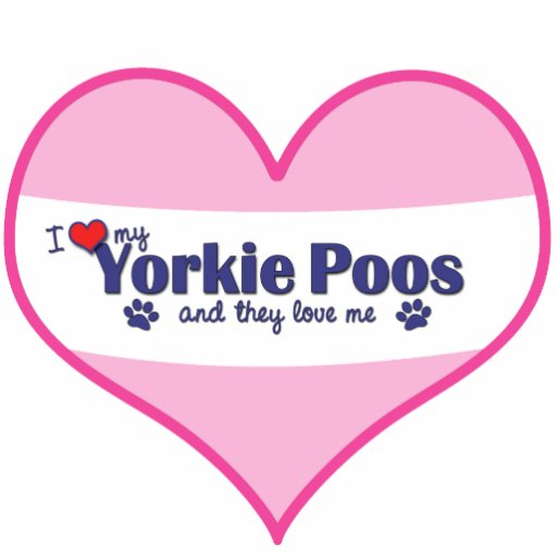 I Love My Yorkie Poos (Multiple Dogs) Photo Cut Outs