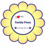 I Love My Yorkie Poos (Multiple Dogs) Photo Sculpture