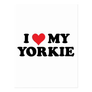 I Love My Yorkie Postcard