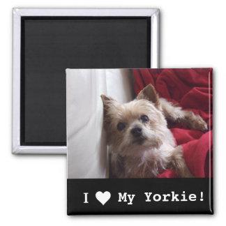 """I Love My Yorkie"" Refrigerator Magnet"