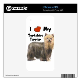 I Love My Yorkie Skin For iPhone 4S