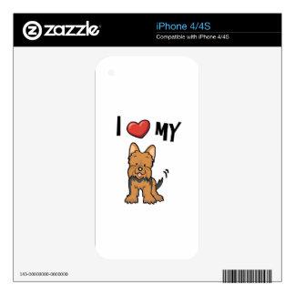 I love my Yorkie iPhone 4S Skin