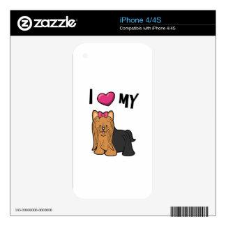 I love my Yorkie iPhone 4S Decal