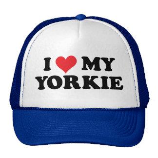 I Love My Yorkie Trucker Hat