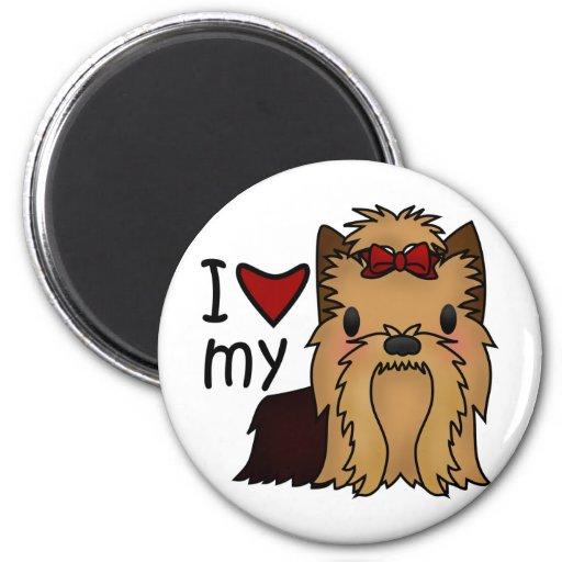 I Love My Yorkie, Yorkshire Terrier Refrigerator Magnet
