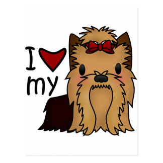 I Love My Yorkie, Yorkshire Terrier Postcard