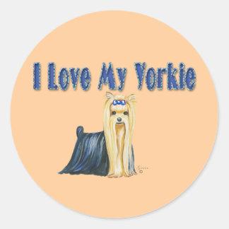 I Love My Yorkie Yorkshire Terrier Stickers