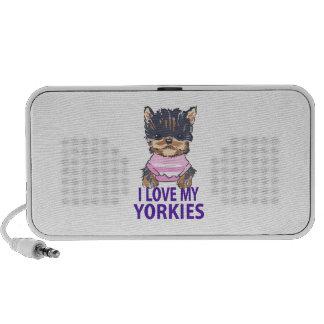 I LOVE MY YORKIES iPod SPEAKERS