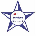 I Love My Yorkipoo (Male Dog) Acrylic Cut Outs