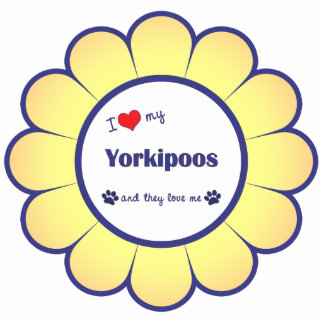 I Love My Yorkipoos (Multiple Dogs) Statuette