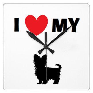 """I Love My Yorkshire Terrier"" Clock"