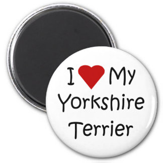 I Love My Yorkshire Terrier Dog Breed Lover Gifts Magnet