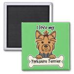 I Love My Yorkshire Terrier Fridge Magnet