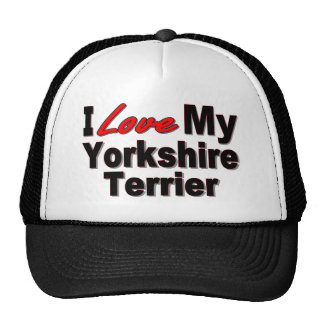 I Love My Yorkshire Terrier Hat