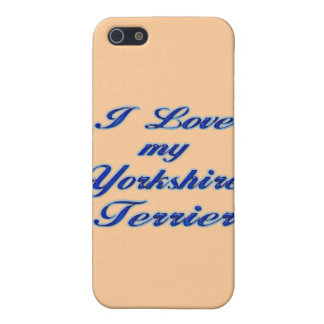 I Love my Yorkshire Terrier iPhone SE/5/5s Cover