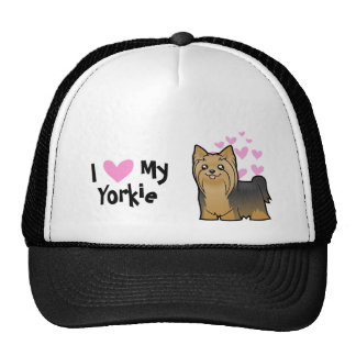 I Love My Yorkshire Terrier (long hair no bow) Trucker Hat
