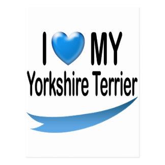 I Love MY Yorkshire Terrier Postcard