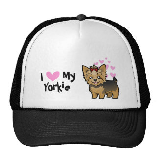 I Love My Yorkshire Terrier (short hair with bow) Trucker Hat