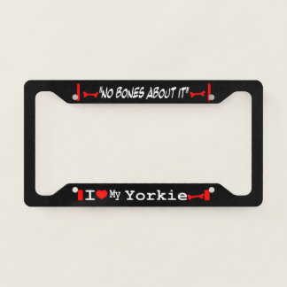 I Love My Yorkshire Terrier (Yorkie) License Plate Frame