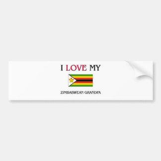 I Love My Zimbabwean Grandpa Bumper Stickers