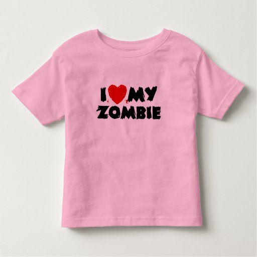 I Love My Zombie Toddler T-shirt