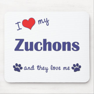 I Love My Zuchons (Multiple Dogs) Mouse Pad