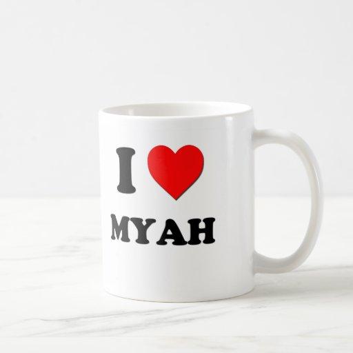 I Love Myah Classic White Coffee Mug